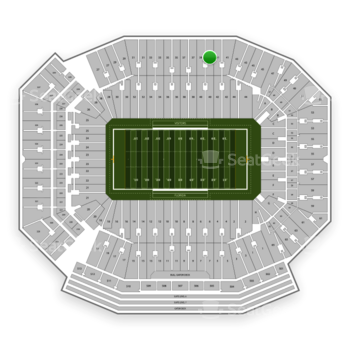 Florida Gators Football at Ben Hill Griffin Stadium Section 39 View