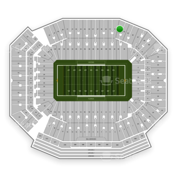 Florida Gators Football at Ben Hill Griffin Stadium Section 43 View