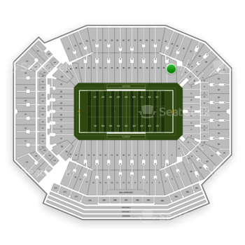 Florida Gators Football at Ben Hill Griffin Stadium Section 44 View