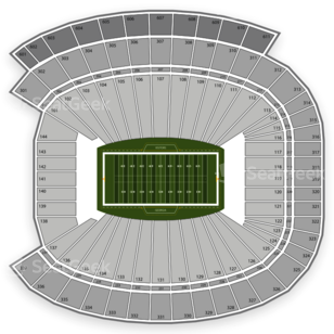 Sanford Stadium Seating Chart NCAA Football