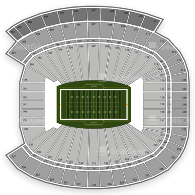 Georgia Bulldogs Stadium Seating Chart Sanford Stadium Seating Chart