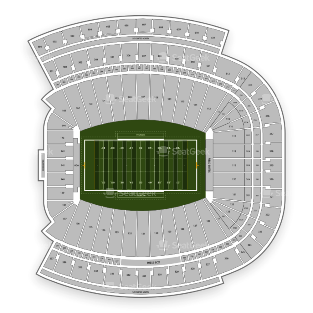 Georgia Bulldogs Football Seating Chart