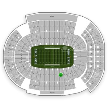 Penn State Nittany Lions Football at Beaver Stadium Section West C View