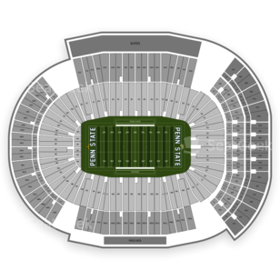 Beaver Stadium Seating Chart NCAA Football