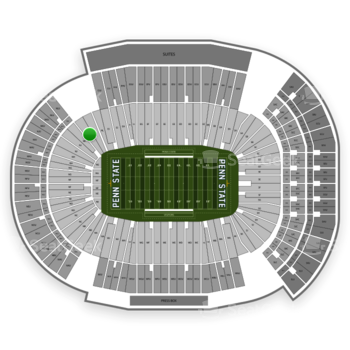 Penn State Nittany Lions Football at Beaver Stadium Nk View