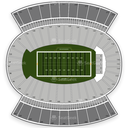 West Virginia Mountaineers Football Seating Chart