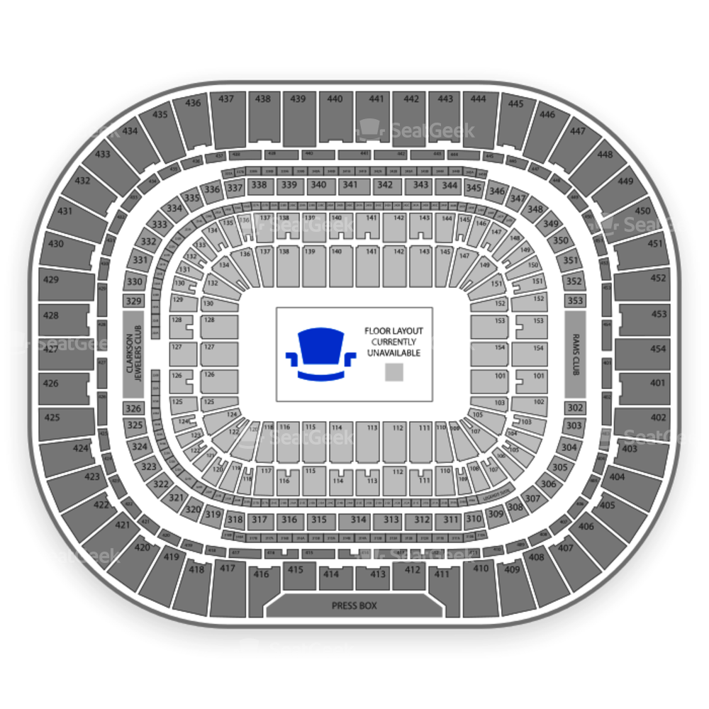 The Dome at America's Center Seating Chart Parking