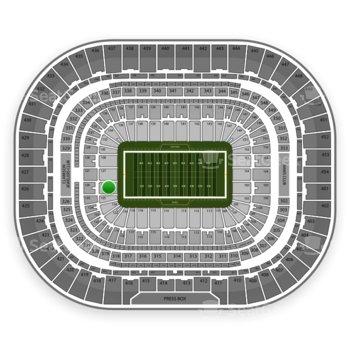Los Angeles Rams at Edward Jones Dome Section 126 View