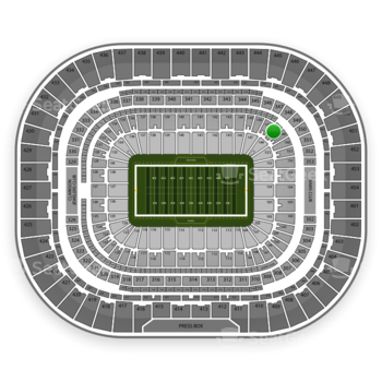 Los Angeles Rams at Edward Jones Dome Section 148 View