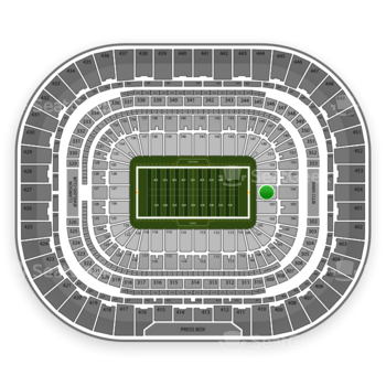 Los Angeles Rams at Edward Jones Dome Section 154 View