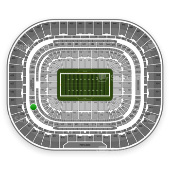 Los Angeles Rams at Edward Jones Dome Section 324 View