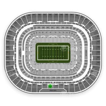 Los Angeles Rams at Edward Jones Dome Section 414 View