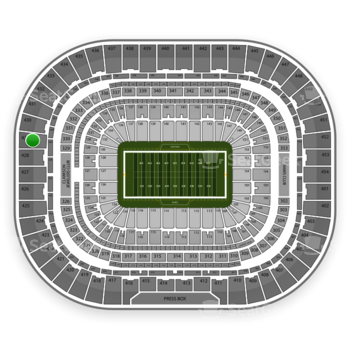 Los Angeles Rams at Edward Jones Dome Section 429 View