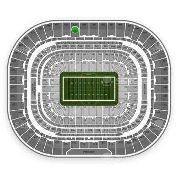 Los Angeles Rams at Edward Jones Dome Section 439 View