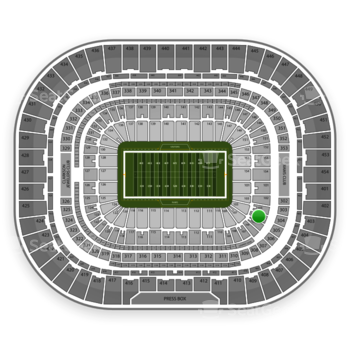 St. Louis Rams at Edward Jones Dome Section 104 View