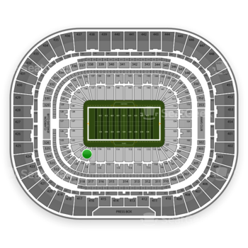 St. Louis Rams at Edward Jones Dome Section 120 View