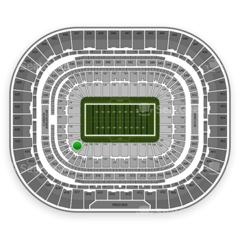 St. Louis Rams at Edward Jones Dome Section 122 View