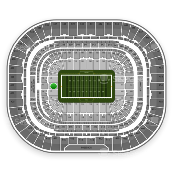 St. Louis Rams at Edward Jones Dome Section 127 View