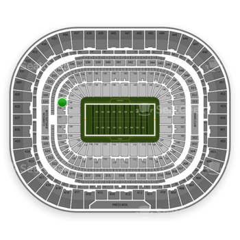 St. Louis Rams at Edward Jones Dome Section 129 View