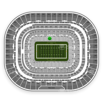 St. Louis Rams at Edward Jones Dome Section 140 View