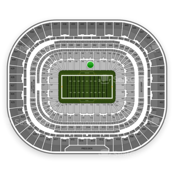 St. Louis Rams at Edward Jones Dome Section 141 View