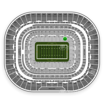 St. Louis Rams at Edward Jones Dome Section 145 View