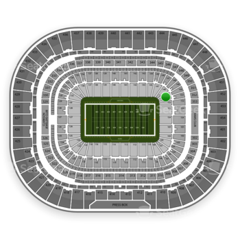 St. Louis Rams at Edward Jones Dome Section 151 View