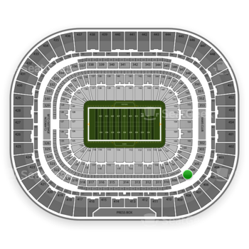 St. Louis Rams at Edward Jones Dome Section 307 View