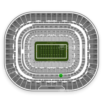 St. Louis Rams at Edward Jones Dome Section 312 View