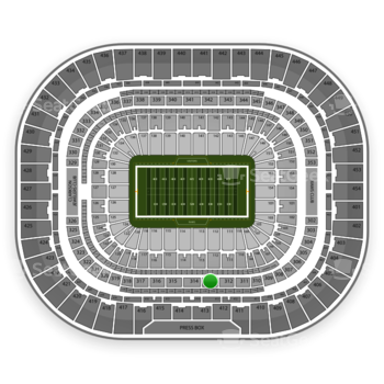 St. Louis Rams at Edward Jones Dome Section 313 View