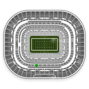 St. Louis Rams at Edward Jones Dome Section 316 View