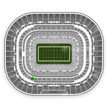 St. Louis Rams at Edward Jones Dome Section 319 View