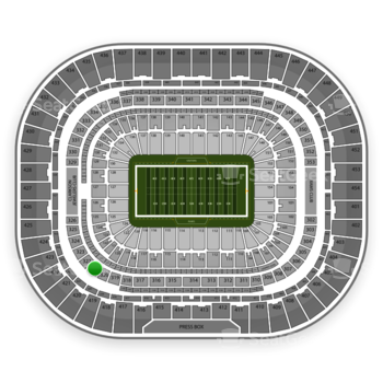 St. Louis Rams at Edward Jones Dome Section 321 View