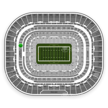 St. Louis Rams at Edward Jones Dome Section 329 View