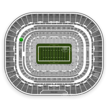 St. Louis Rams at Edward Jones Dome Section 331 View