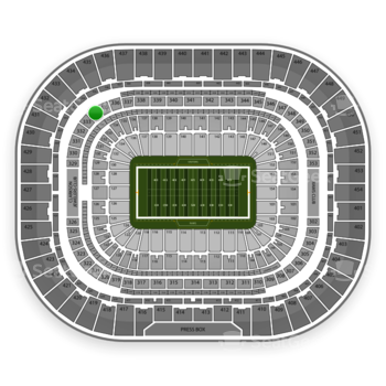 St. Louis Rams at Edward Jones Dome Section 334 View