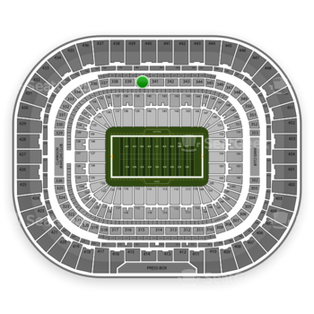 St. Louis Rams at Edward Jones Dome Section 340 View