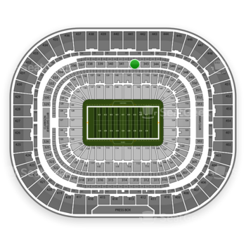 St. Louis Rams at Edward Jones Dome Section 342 View