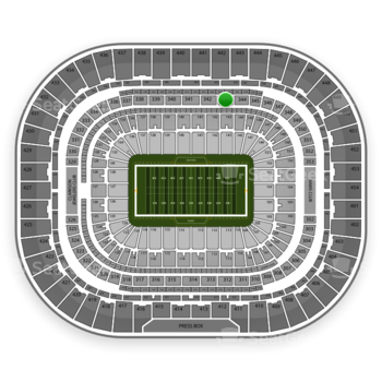 St. Louis Rams at Edward Jones Dome Section 343 View