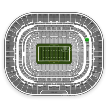 St. Louis Rams at Edward Jones Dome Section 351 View