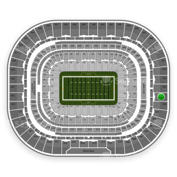 St. Louis Rams at Edward Jones Dome Section 401 View