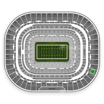 St. Louis Rams at Edward Jones Dome Section 404 View
