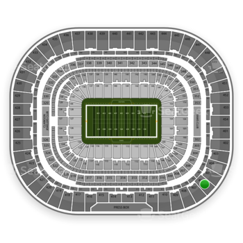St. Louis Rams at Edward Jones Dome Section 406 View
