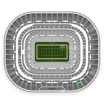 St. Louis Rams at Edward Jones Dome Section 408 View