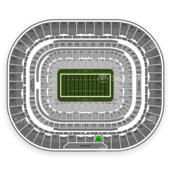 St. Louis Rams at Edward Jones Dome Section 412 View