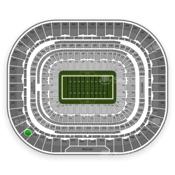 St. Louis Rams at Edward Jones Dome Section 421 View
