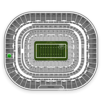 St. Louis Rams at Edward Jones Dome Section 426 View