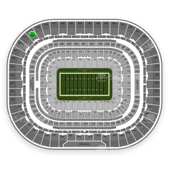 St. Louis Rams at Edward Jones Dome Section 434 View