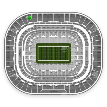 St. Louis Rams at Edward Jones Dome Section 436 View