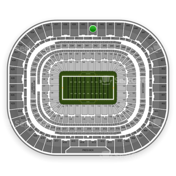 St. Louis Rams at Edward Jones Dome Section 441 View